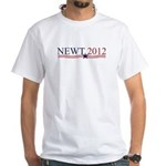 Newt Gingrich 2012 White T-Shirt