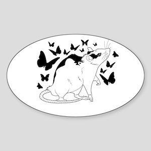 Little butterflies Sticker (Oval)