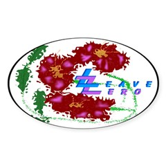 Tropical Flowers Decal, Leave Zero