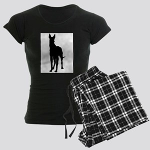 Great Dane Silhouette Women's Dark Pajamas