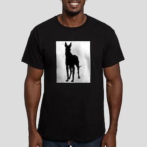 Great Dane Silhouette Men's Fitted T-Shirt (dark)