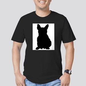 French Bulldog Silhouette Men's Fitted T-Shirt (da