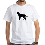 Labrador Retriever Silhouette White T-Shirt