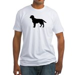 Labrador Retriever Silhouette Fitted T-Shirt