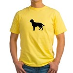 Labrador Retriever Silhouette Yellow T-Shirt