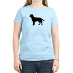 Labrador Retriever Silhouette Women's Light T-Shir