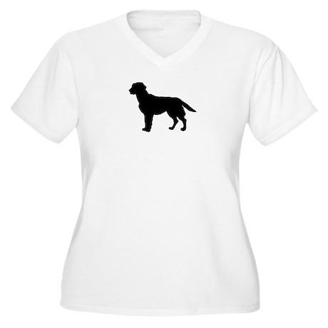 Labrador Retriever Silhouette Women's Plus Size V-