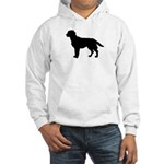 Labrador Retriever Silhouette Hooded Sweatshirt