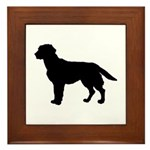 Labrador Retriever Silhouette Framed Tile