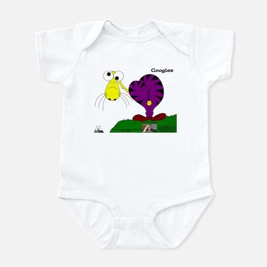 Googles! In Purrpl & Banana Infant Bodysuit