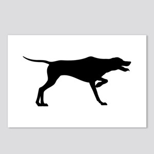 Pointer Silhouette Postcards (Package of 8)