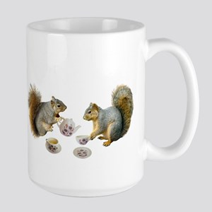 Squirrels Tea Party Large Mug