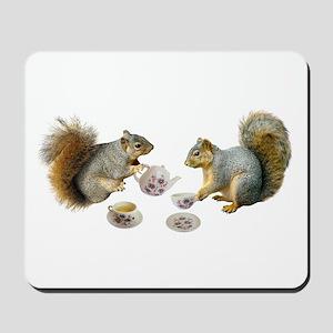 Squirrels Tea Party Mousepad