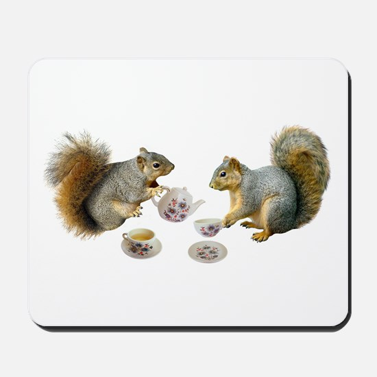 Squirrels Tea Party Mousepad