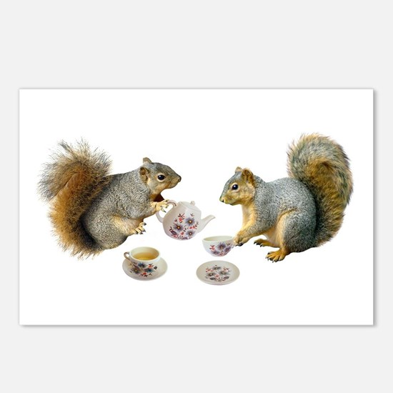 Squirrels Tea Party Postcards (Package of 8)