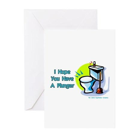 Hope You Have A Plunger Greeting Cards (Package of