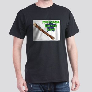 Professional Recorder Player Black T-Shirt