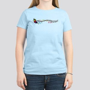 Butterfly Music Women's Light T-Shirt