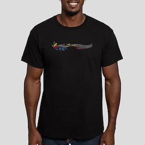 Butterfly Music Men's Fitted T-Shirt (dark)