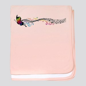 Butterfly Music baby blanket