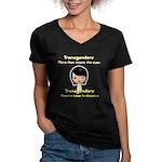 Transgenders Women's V-Neck Dark T-Shirt