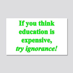 Education quote (green) 22x14 Wall Peel