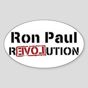 "Ron Paul Revolution Sticker (Oval) 3""x5"""