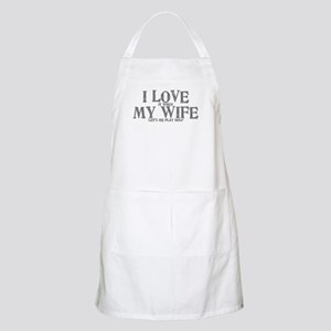 I love my wife golf funny Apron