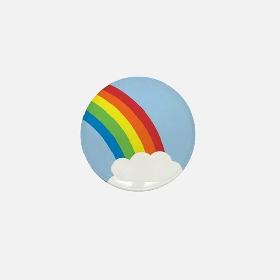 80's Retro Rainbow Mini Button