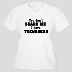 don't scare me teenagers Women's Plus Size V-Neck