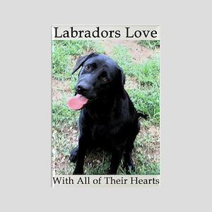 Labradors Love Rectangle Magnet