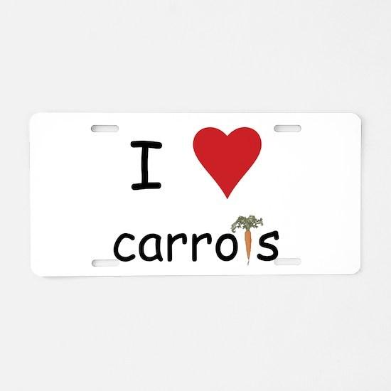 I Love Carrots Aluminum License Plate