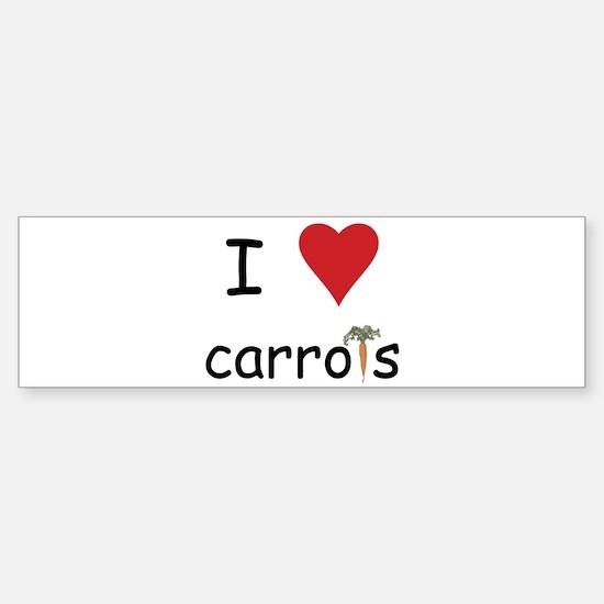I Love Carrots Sticker (Bumper)