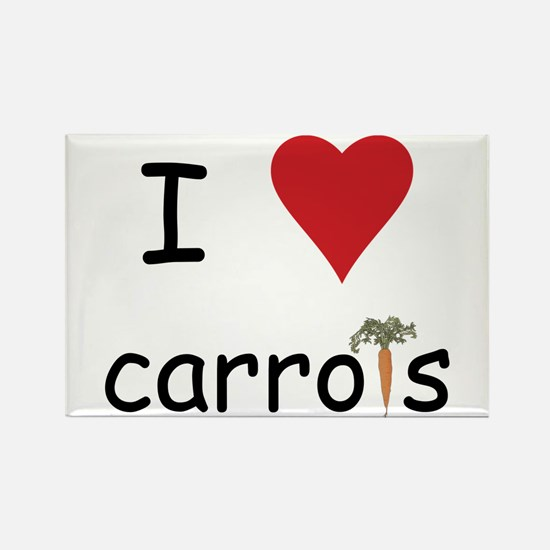 I Love Carrots Rectangle Magnet (10 pack)