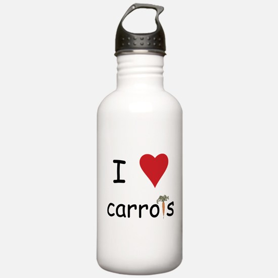 I Love Carrots Water Bottle