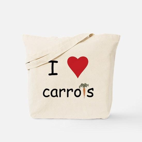 I Love Carrots Tote Bag