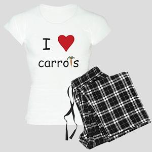 I Love Carrots Women's Light Pajamas