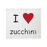 I Love Zucchini Throw Blanket