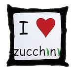 I Love Zucchini Throw Pillow