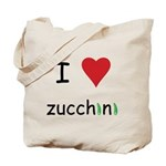 I Love Zucchini Tote Bag