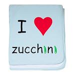 I Love Zucchini baby blanket