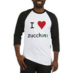 I Love Zucchini Baseball Jersey