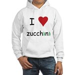 I Love Zucchini Hooded Sweatshirt