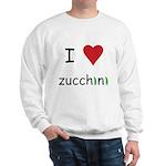 I Love Zucchini Sweatshirt