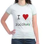 I Love Zucchini Jr. Ringer T-Shirt