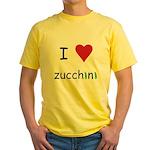 I Love Zucchini Yellow T-Shirt