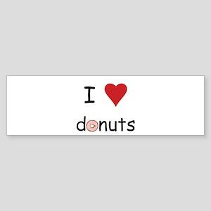 I Love Donuts Sticker (Bumper)