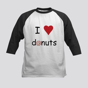 I Love Donuts Kids Baseball Jersey