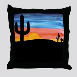 Cactus Sunset Throw Pillow