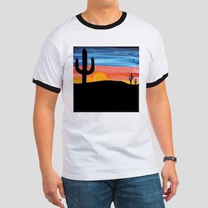 Cactus Sunset Ringer T
